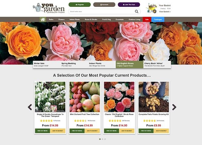 You Garden Homepage Screenshot