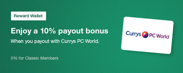 Currys PC World payout bonus