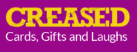 Creased Cards, Gifts and Laughs Logo