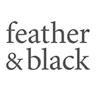 Feather & Black Square Logo