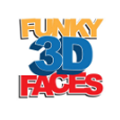 funky3dfaces Square Logo