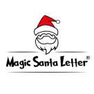 Magic Santa Letter Square Logo
