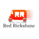 Red Rickshaw - Indian Online Supermarket Square Logo