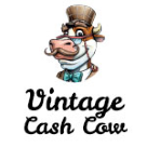 Vintage Cash Cow Square Logo